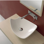 Kong 50 Above Counter Bathroom Sink in White 19-7/10'' x 15''