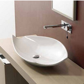 Kong 70 Above Counter Bathroom Sink in White, 27-3/5'' x 15-3/10''