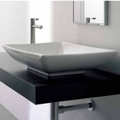 Kylis Above Counter Bathroom Sink in White, 24-4/5'' x 18-1/10''