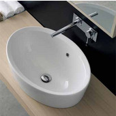 Matty Ovale A Built-in Washbasin in White, 18-1/10'' x 26-2/5''