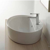 Matty Ovale A-R Built-in Washbasin in White, Single Hole; 18-1/10'' x 26-2/5''