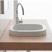 Next 40-A Built-in Bathroom Sink in White, 15-4/5'' x 15-4/5''