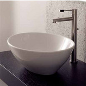 Ovo Above Counter Bathroom Sink in White, 16-1/10'' x 13-2/5''