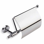 Wall Mounted Chrome Toilet Roll Holder with Cover, Chrome