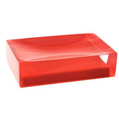 Gedy Soap Holder, 1-1/10'' H x 4-3/10'' W x 2-7/10'' D, Red
