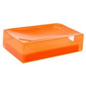 Gedy Soap Holder, 1-1/10'' H x 4-3/10'' W x 2-7/10'' D, Orange