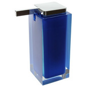 Gedy Soap Dispenser, 6-3/10'' H x 2-7/10'' W x 4-2/5'' D, Blue