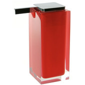 Gedy Soap Dispenser, 6-3/10'' H x 2-7/10'' W x 4-2/5'' D, Red