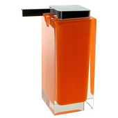 Gedy Soap Dispenser, 6-3/10'' H x 2-7/10'' W x 4-2/5'' D, Orange