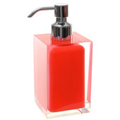 Gedy Soap Dispenser, 6-3/10'' H x 2-7/10'' W x 2-7/10'' D, Red