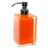 Gedy Soap Dispenser, 6-3/10'' H x 2-7/10'' W x 2-7/10'' D, Orange