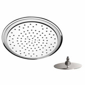 Remer Shower Head, Chrome & White, 9-4/9''W x 9-4/9''D x 3''H