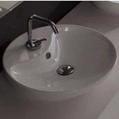Shape 45 Above Counter Bathroom Sink in White, Single Hole Dia. 17-7/10''