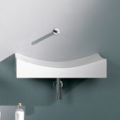 Tsunami 90 Above Counter Bathroom Sink in White, 35-4/5'' x 17-9/10''