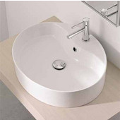 Wind 8030-R Above Counter Bathroom Sink in White, Single Hole; 21-3/10'' x 17-7/10''