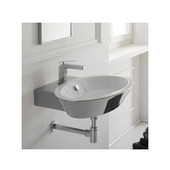 Wish Thin Edge Suspended or Supported China Basin Sink, White