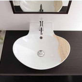 Zefiro 50-R Mensola Wall Mounted Or Above Counter Bathroom Sink, in White, Single Hole; W 19-7/10'' x 19-7/10''