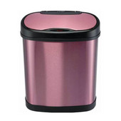 12 Liters (3.2 Gallons) Infrared Motion Sensor Trash Can in Purple / Stainless Steel, 12-1/64'' W x 8-1/5'' D x 15-1/5'' H