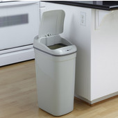 8.7 gallon infrared hands-free trash can, Grey plastic