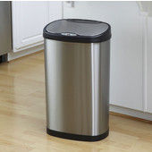 13.2 Gallon Stainless Steel Infrared Trash Can, 11-1/2''W x 16-1/2''D x 26-1/2''H