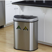 18 1/2 Gallon Infrared Trash Can, 21 3/10'' W x 13'' D x 26 1/5'' H, Stainless Steel