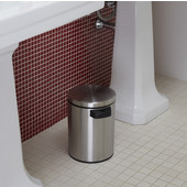 Nine Star  1.3 Gallon, 8-1/2'' W x 9.6'' D x 11.2'' H, Motion Sensor Trash Can, Stainless Steel