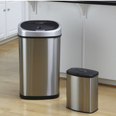 Stainless Steel Infrared Trash Can Combo