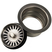 3-1/2'' Copper Extended Flange Drain for Garbage Disposal Use, Brushed Stainless