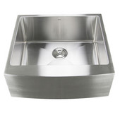 Pro Series Single Bowl Undermount Apron Front Stainless Steel Kitchen Sink, 24''W x 22-1/4''D x 9''H
