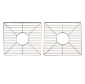 Premium Kitchen Collection Stainless Steel Bottom Grids Set (2-Piece) in Gleaming Chrome, 16-1/2'' W x 14-3/4'' D