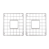 Premium Kitchen Collection Stainless Steel Bottom Grids Set (2-Piece) in Gleaming Chrome, 14-1/4'' W x 15-1/2'' D