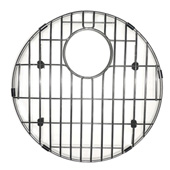 Nantucet Sinks Electro-Plated Stainless Steel Round Bottom Grid with Protective Bumpers, Designed For Quidnet Collection Round Bar/Prep Single Bowl, 15'' Diameter x 1'' H
