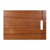 Premium Prep Station Wooden Cutting Board, 18'' W x 12'' D x 1'' H