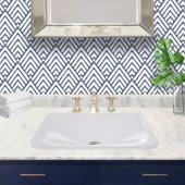 Brant Point Collection 21'' Rectangular Drop-In Ceramic Vanity Bathroom Sink in Porcelain Enamel Glaze White, 21-3/16'' W x 14-1/2'' D x 5-3/8'' H