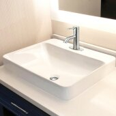 Brant Point Collection 23'' Rectangular Drop-In Ceramic Vanity Sink, 1-Hole, 23'' W x 17-1/4'' D x 7-1/2'' H