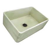 Vineyard Collection 30'' Farmhouse Fireclay Sink in Shabby Green, 29-3/4'' W x 19-3/4'' D x 10'' H