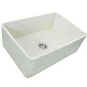 Vineyard Collection 30'' Farmhouse Fireclay Sink in Shabby Straw, 29-3/4'' W x 19-3/4'' D x 10'' H
