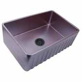 Vineyard Collection 33'' Farmhouse Fireclay Sink with Metallic Glaze, Iridescent Finish, 33''W x 20''D x 10''H