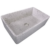 Vineyard Collection 33'' Farmhouse Fireclay Sink in Pietra Sarda, 33'' W x 20'' D x 10'' H