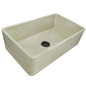 Vineyard Collection 33'' Farmhouse Fireclay Sink in Shabby Green, 33'' W x 20'' D x 10'' H