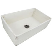 Vineyard Collection 33'' Farmhouse Fireclay Sink in Shabby Straw, 33'' W x 20'' D x 10'' H