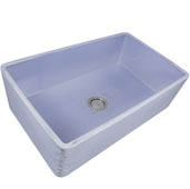 Vineyard Collection 33'' Farmhouse Fireclay Sink in Shabby Sugar, 33'' W x 20'' D x 10'' H