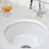 Cape Collection Hyannis Italian Fireclay 17-1/2'' Diameter Bar Prep Sink, White Finish, 17-1/2'' Diameter x 7-3/4'' H