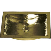 solid brass decorative bar sink, trough shaped with hammered brass finish, 19-11/13'W x 12-11/13'D x 6'H