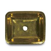 Brightwork Home Collection, Rectangular Sink, Undermount/Above Mount, Hammered Brass, 17-1/2'' W x 14-1/2'' D x 5'' H