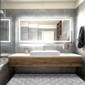 Glacierstone Collection Rectangle White Glacierstone Trough Sink, 36'' W x 15'' D x 4-1/4'' H