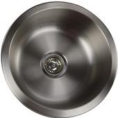 Quidnet Collection Round Undermount Stainless Steel Bar/Prep Sink, 18 Gauge in Brushed Satin, 17-1/2'' Diameter x 7''H