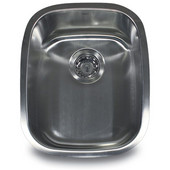 18 Gauge Stainless Steel Undermount Utility Sink, 15''W x 18-1/2''D x 7''H