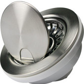 Flip Top 3-1/2''Dia. Crumb Cup Kitchen Drain, 4-1/2'W x 4-1/2'D x 3'H