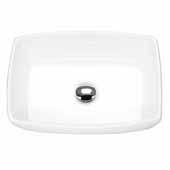Rectangular Bathroom Vessel Sink, White, 18-3/4''W x 13-1/4''D